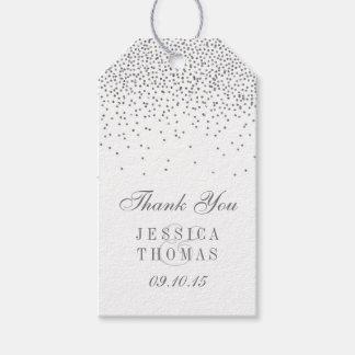 Etiquetas de plata atractivas del regalo de boda etiquetas para regalos
