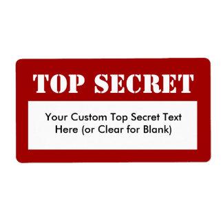 Etiquetas de relleno secretísimas de la plantilla  etiqueta de envío