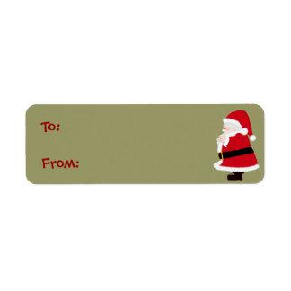 Etiquetas de Santa del navidad Etiquetas De Remite