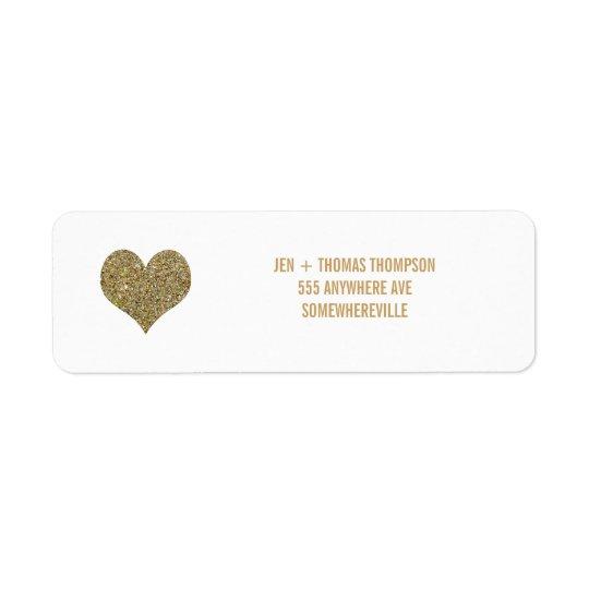 Etiquetas del boda del remite del brillo del etiqueta de remite