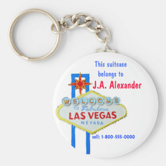 Etiquetas del bolso de Las Vegas Llavero Redondo Tipo Chapa