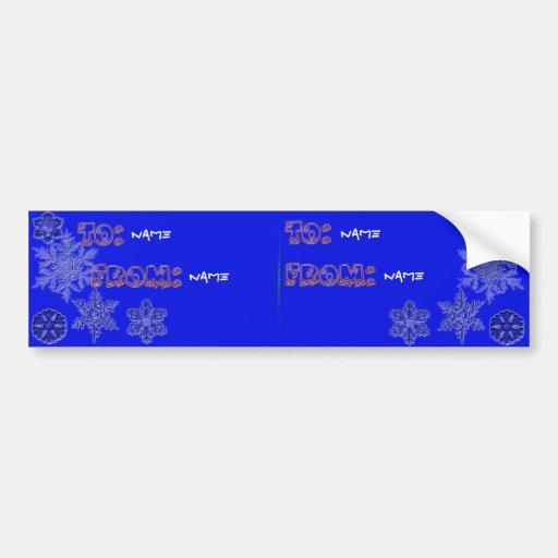 Etiquetas del copo de nieve etiqueta de parachoque