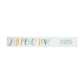 Etiquetas del cruzado del amor de la paz de la
