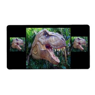 Etiquetas del dinosaurio para los niños