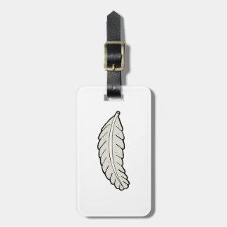 Etiquetas del equipaje de la pluma