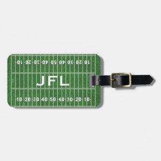 Etiquetas del equipaje del diseño del campo de fút