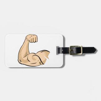 Etiquetas del equipaje del músculo del brazo