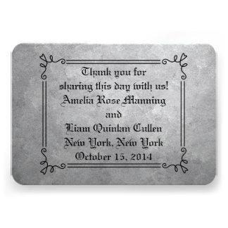 Etiquetas del favor de la bodas de plata