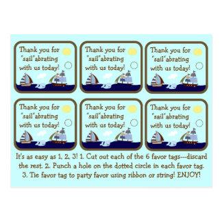 Etiquetas del favor de la fiesta de bienvenida al  postal