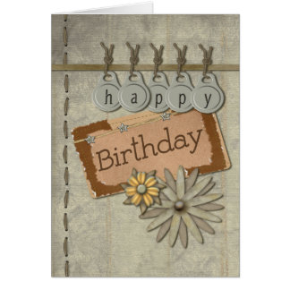 Etiquetas del feliz cumpleaños tarjeta de felicitación