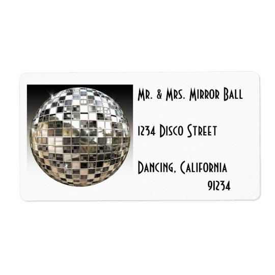 Etiquetas del fiesta de disco de la bola de espejo