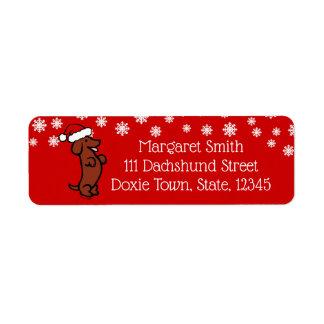 Etiquetas del gorra de Santa del navidad del