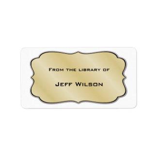 Etiquetas del letrero del libro etiqueta de dirección