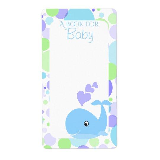 Etiquetas del libro del bebé de la ballena etiqueta de envío