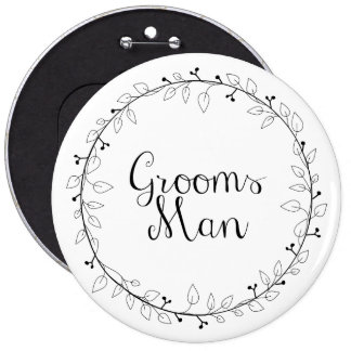 Etiquetas del nombre del boda del padrino de boda chapa redonda 15 cm
