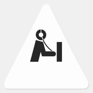 Etiquetas del nombre del icono del equipo de calcomanías trianguloes