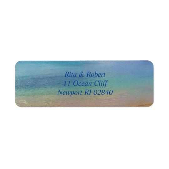 Etiquetas del océano |Address Etiqueta De Remitente