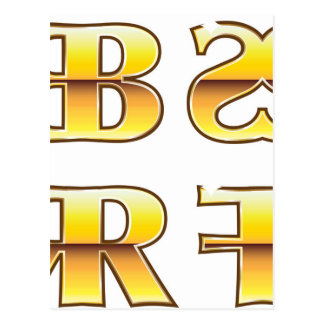 Etiquetas del oro de los SS RR FF del BB Postal