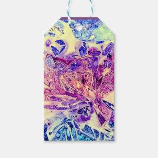 etiquetas del regalo con azul y púrpura abstractos