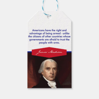 Etiquetas del regalo de James Madison Etiquetas Para Regalos