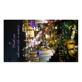 Etiquetas del regalo de la opinión de Las Vegas Plantillas De Tarjeta De Negocio
