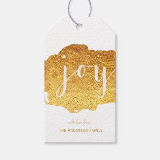 Etiquetas del regalo de la pintura del oro de la etiquetas para regalos