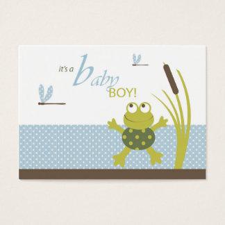 Etiquetas del regalo de la rana y de la libélula