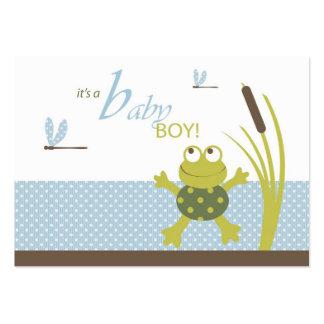 Etiquetas del regalo de la rana y de la libélula tarjetas de visita grandes