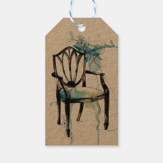 Etiquetas del regalo de la silla de Hepplewhite Etiquetas Para Regalos
