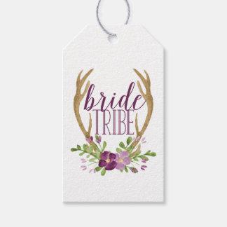 Etiquetas del regalo de la tribu de la novia de etiquetas para regalos
