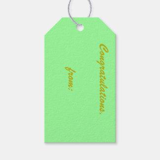 Etiquetas del regalo de la verde menta etiquetas para regalos