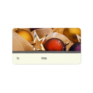 Etiquetas del regalo de las decoraciones del etiqueta de dirección