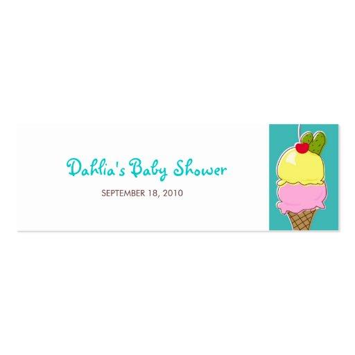 Etiquetas del regalo de las salmueras y del helado tarjeta de visita