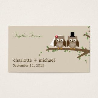 Etiquetas del regalo de los búhos del amor