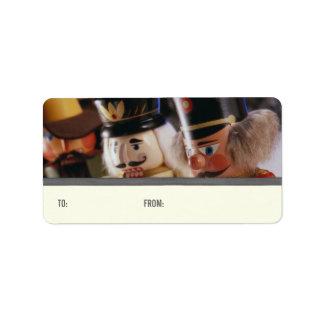 Etiquetas del regalo de los cascanueces etiqueta de dirección