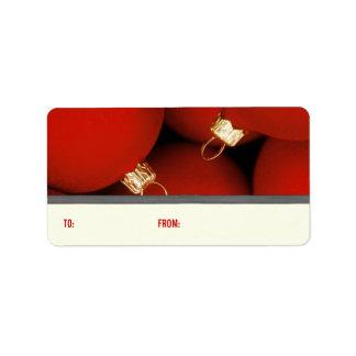 Etiquetas del regalo de los ornamentos del navidad etiquetas de dirección