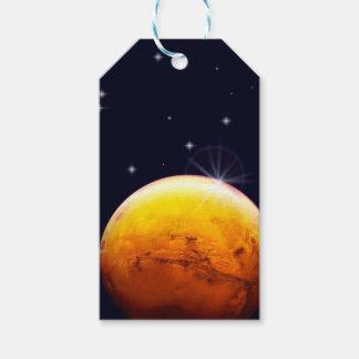 Etiquetas del regalo de Marte