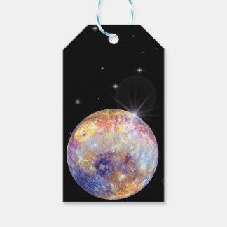 Etiquetas del regalo de Mercury del planeta
