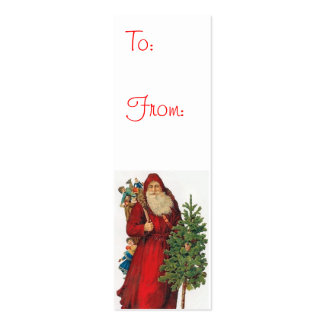 Etiquetas del regalo de Papá Noel del vintage Tarjetas De Visita Mini