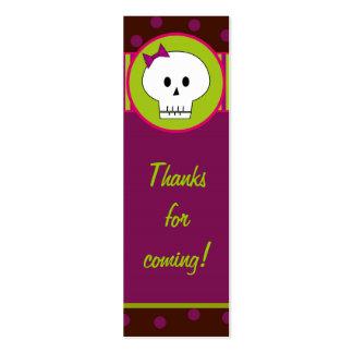 Etiquetas del regalo de Skeletong Halloween/etique Plantilla De Tarjeta Personal
