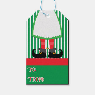 Etiquetas del regalo de vacaciones del duende etiquetas para regalos