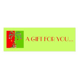 Etiquetas del regalo de vacaciones del navidad el tarjetas de visita mini