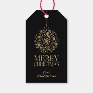 Etiquetas del regalo de vacaciones del ornamento