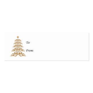 Etiquetas del regalo del árbol de Bell de navidad Tarjetas De Visita Mini
