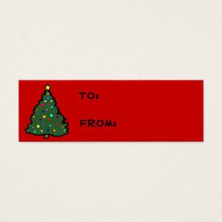 Etiquetas del regalo del árbol de navidad