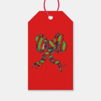 Etiquetas del regalo del arco del navidad