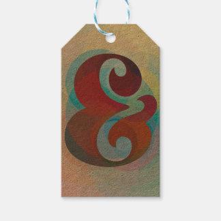 """Etiquetas del regalo del arco iris del signo """"&"""""""