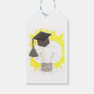 Etiquetas del regalo del bulbo del graduado etiquetas para regalos