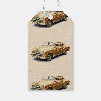 Etiquetas del regalo del coche del vintage