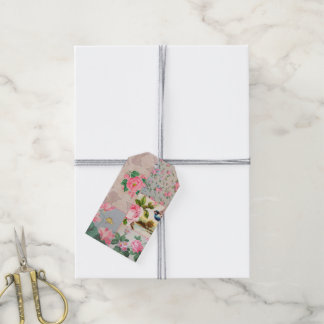 Etiquetas del regalo del collage del papel pintado etiquetas para regalos